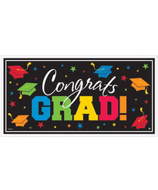 Large Horizontal Graduation Banner: Multicolor