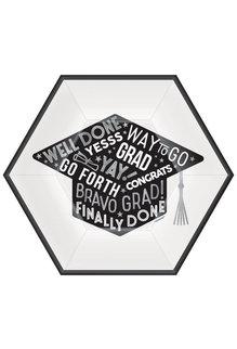 "9"" Hexagon Plates: Graduation  (18ct.)"