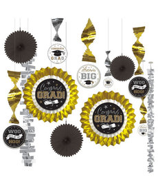 Graduation Decorating Kit - Black/Silver/Gold