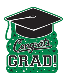 Graduation Cutout: Green
