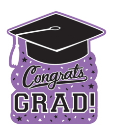 Graduation Cutout: Purple