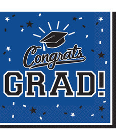 Graduation Luncheon Napkins: Blue (36ct.)