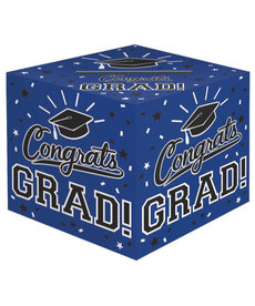 Graduation Card Holder Box: Blue