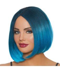 Dream Girl Mid-Length Ombré Bob Steel Blue/Bright Blue Wig