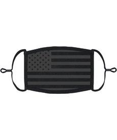Adjustable Fabric Face Mask: Black Flag