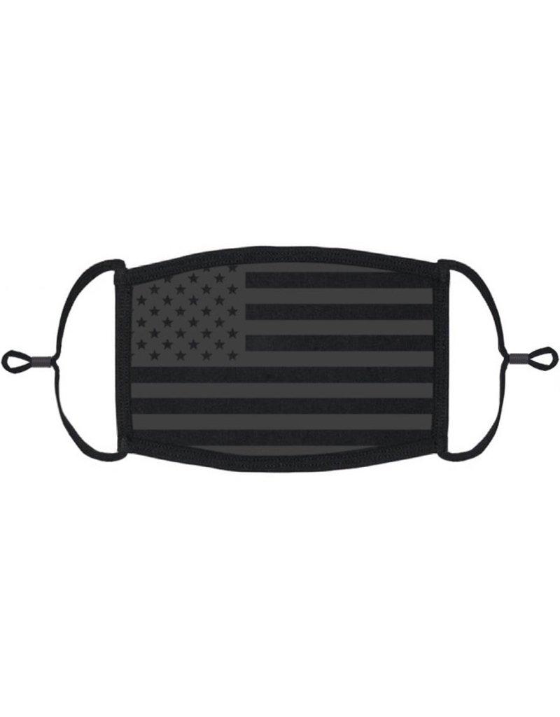 Adjustable Fabric Face Mask: Black Flag (1pk.)