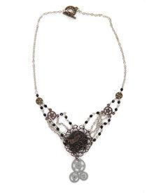 elope elope Steamworks Chain Gear Necklace Antique