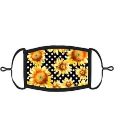 Adjustable Fabric Face Mask: Sunflowers
