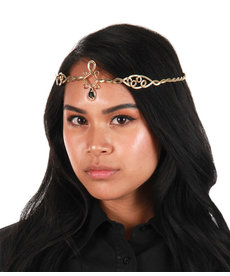 elope Antique Gold/Black Circlet Adjustable