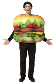 Adult Get Real Cheeseburger Costume