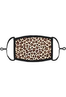 Adjustable Fabric Face Mask: Leopard Print