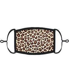Adjustable Fabric Face Mask: Leopard Print
