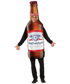 Adult Budweiser Bottle Beer Costume