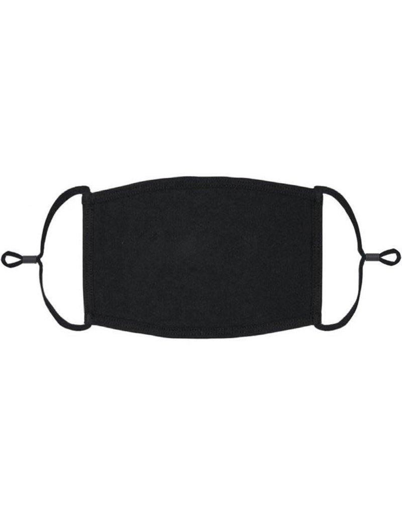 Adjustable Fabric Face Mask: Black