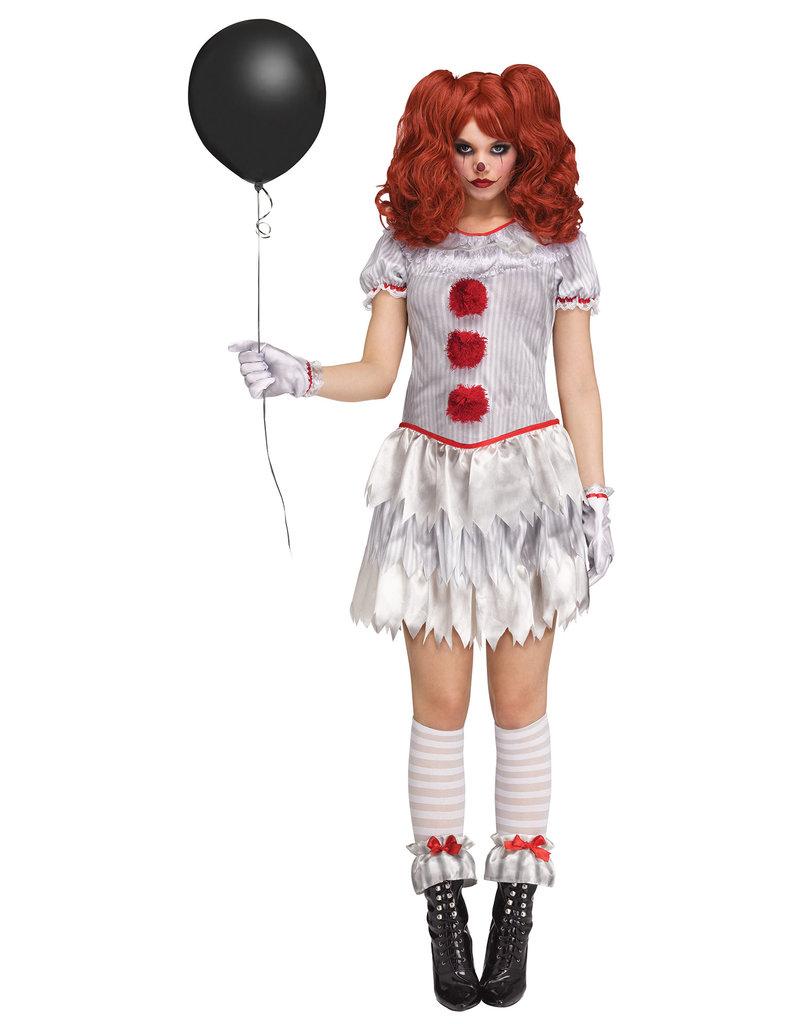 Fun World Costumes Women's Adult Carnevil Clown Costume