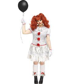 Fun World Costumes Women's Plus Size Carnevil Clown