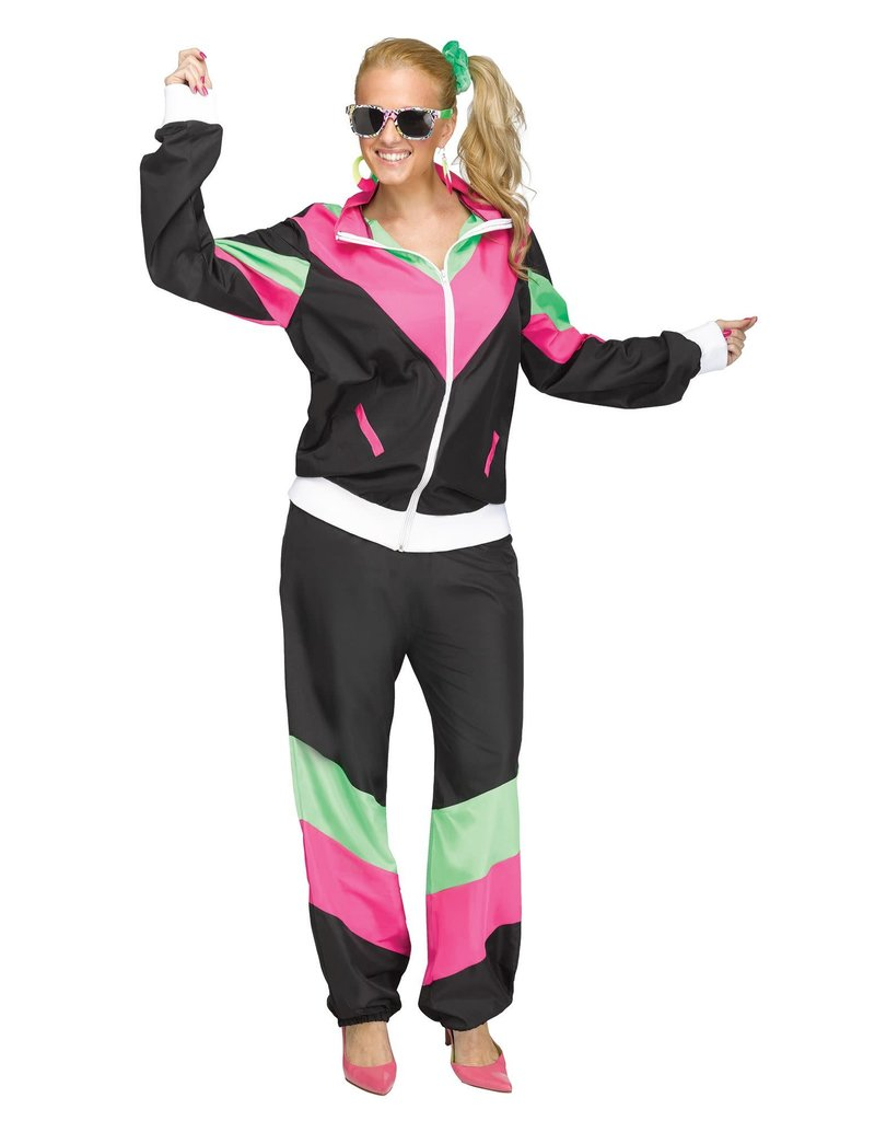 Fun World Costumes Adult Women's Rockin 80's Track Suit