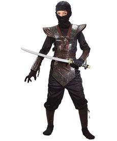 Fun World Costumes Kids Brown Leather Ninja Fighter Costume