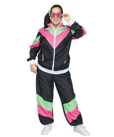 Fun World Costumes Women's Plus Size Rockin 80's Track Suit Costume