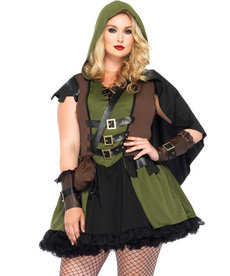 Leg Avenue Women's Plus Size Darling Robin Hood Costume