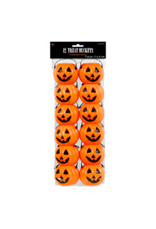 "2.5"" Pumpkin Plastic Treat Pails (12ct.)"