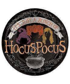 """7"""" Round Foil Plate: Disney Hocus Pocus (8pk.)"""