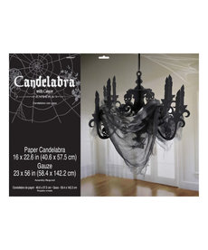 Haunted Mansion Candleabra with Gauze