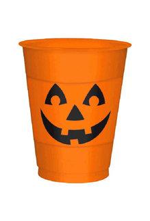 16oz. Plastic Cups: Pumpkin (25ct.)