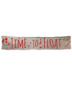 """It Chapter 2™ Cloth Banner: """"Time To Float"""" (12.5"""" H x 72"""" W)"""