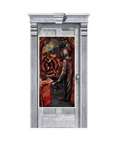 """Door Decoration: Clown Side Show (65""""x33"""")"""