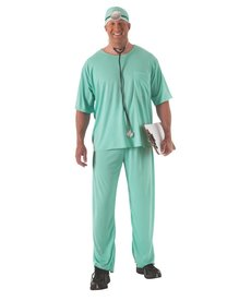 Rubies Costumes Unisex Plus Size Doctor Scrubs Costume