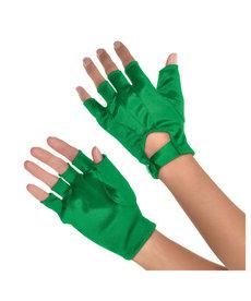 Short Fingerless Gloves - Green