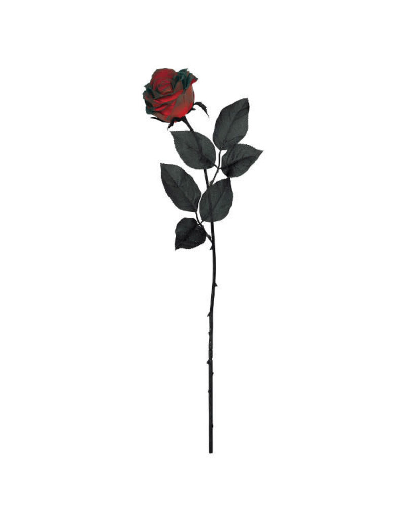 """24"""" Fabric Rose: Blood Red"""