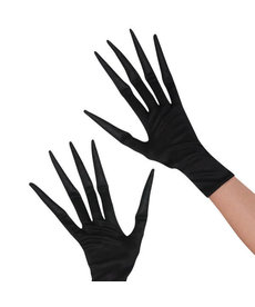 Amscan Creepy Gloves: Black