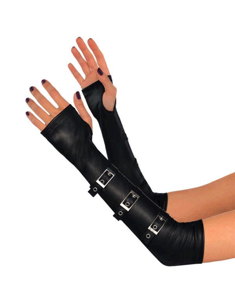 Arm Warmers Buckled Goth