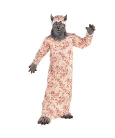 Amscan Adult Grandma Wolf Costume