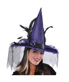 Amscan Deluxe Elegant Witch Hat: Purple