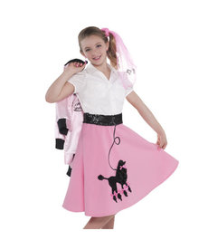 Child's Pink Poodle Skirt