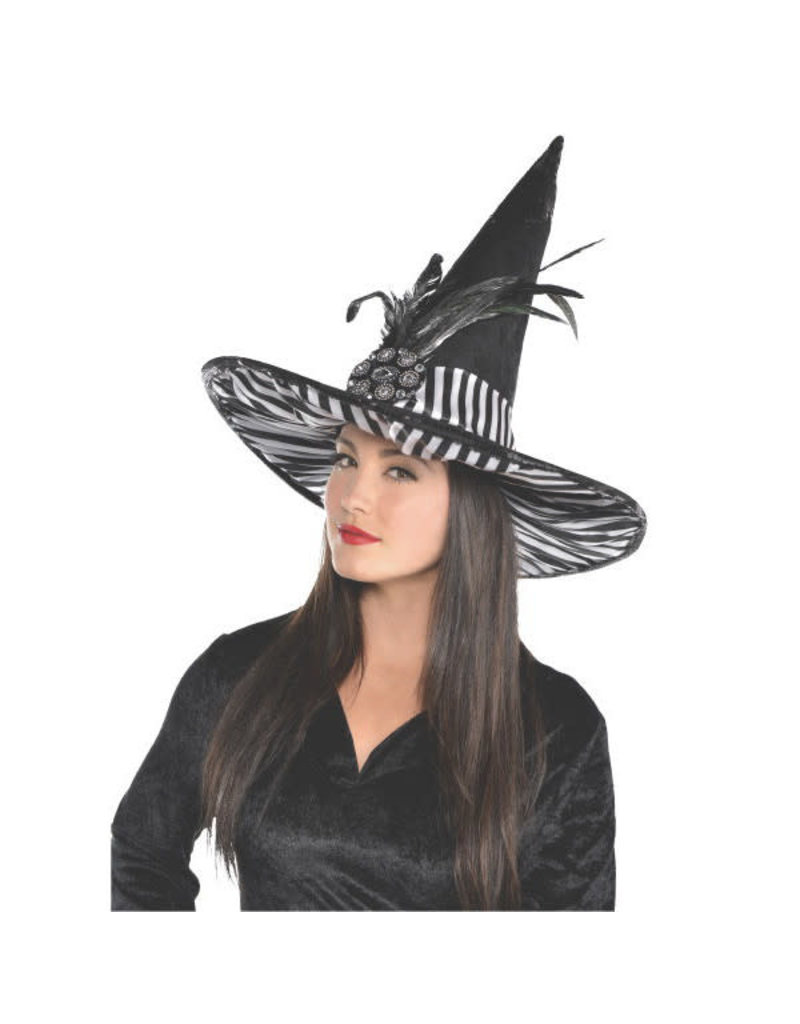 Couture/Witch Hat (Zebra Print)