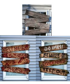 Fun World Costumes Haunted Window Boards