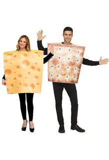 Fun World Costumes Cheese & Cracker - Couples Costume