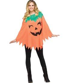 Fun World Costumes Women's Pumpkin Poncho