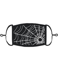 Adjustable Coronavirus Halloween Mask: Spider Web