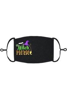 Adjustable Coronavirus Halloween Mask: Witch Please (1pk.)