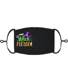 Adjustable Coronavirus Halloween Mask: Witch Please