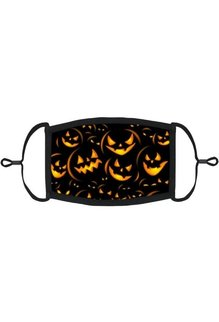 Adjustable Coronavirus Halloween  Mask: Scary Pumpkins (1pk.)