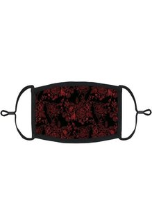 Adjustable Coronavirus Halloween Mask: Gothic Roses (1pk.)