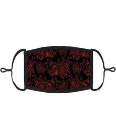 Adjustable Coronavirus Halloween Mask: Gothic Roses