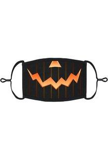 Adjustable Coronavirus Halloween Mask: Jack-O-Lantern (1pk.)
