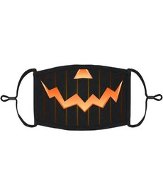 Adjustable Coronavirus Halloween Mask: Jack-O-Lantern